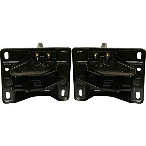 Bumper Bracket Set of 2 Right and Left Side Front Steel compatible with Dodge Full Size P/U 2500/3500 03-09 Steel W/Tow Hook