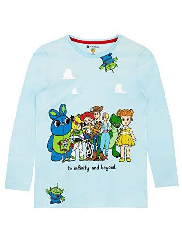 Disney Camiseta de Manga Larga para niñas Toy Story Azul 12-18 Meses