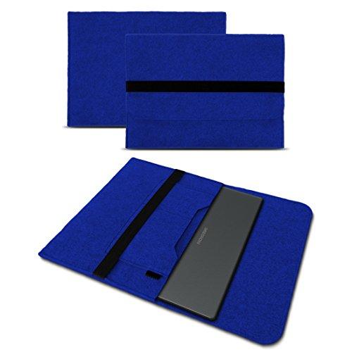 UC-Express Sleeve Hülle kompatibel für Medion Akoya E3222 E3223 13,3 Zoll Tasche Filz Notebook Cover Laptop Etui Schutz Hülle, Farbe:Blau
