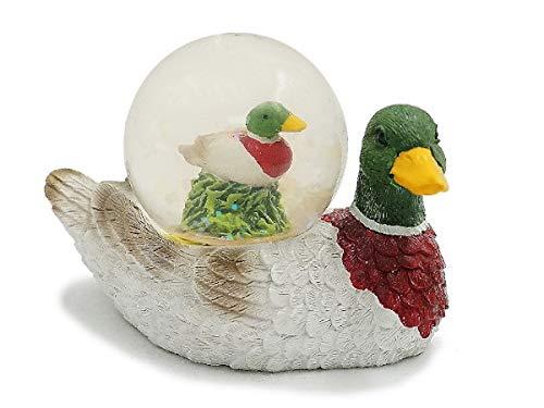 Euro Souvenirs Glitzerkugel Ente Schneekugel Tier Tiere Schneekugeln Erpel Stockente