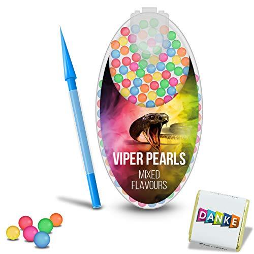 VIPER PEARLS - 100 Premium Menthol Kapseln | Click Hülsen Kugeln | Aromatische Kapseln | Click Filter | DIY Menthol Filter | Zigarette klick Filter | Mit Flavour Geschmack (MIX)