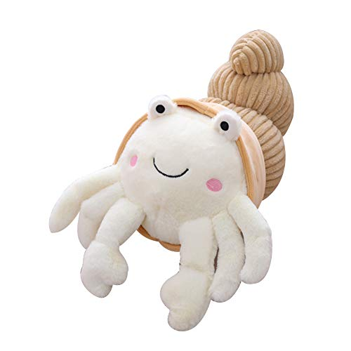 Peluche Toy Cuddly Toy Cartoon Hermit Crab Doll Toy Back Cuddle Snuggle Home Sofa Décoration Cadeau d'anniversaire - Blanc 35cm