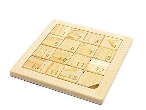 豊北木工 木でつくったスライドパズル 15パズル ひのき 木製 国産 日本製