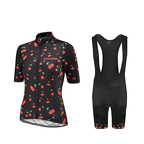 UGLY FROG Bike Wear Radtrikot Damen Kurzarm Fahrradbekleidung Set Outdoor Sports Radfahren Jersey + Radfahren Latzhose 20 DShorts im Sommer