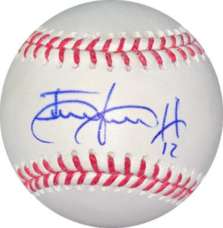 Juan Lagares signed Rawlings Official Major League Baseball  12 minor bleed (NY Mets)