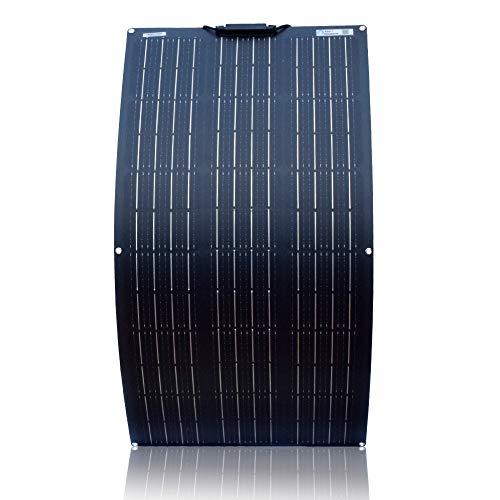 YYANG Solarpanel Einkristall Flexibles Board 100W18V Matt Pet Schwarz Rückwand Anschlusskasten Auf Der Vorderseite