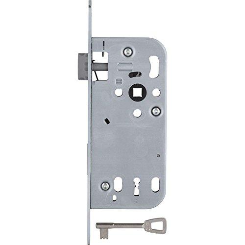 SECOTEC Tür-Einsteckschloss Buntbart Dormaß 50 mm, rund, silberfärbig, 1 Stück