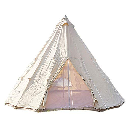 Outdoor Waterproof Tent, Folding Tent Outdoor Canvas 16 Farmhouse Grill Tent Tent Rain Thickened Suitable for Camping (Color , Beige, Size , 4M),For Beach Camping Hiking Fishing,,Beige for Beach Campi