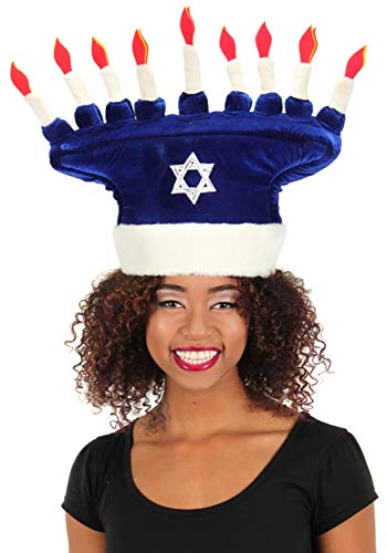 Chanukah Menorah Plush Costume Hat for Kids and Adults