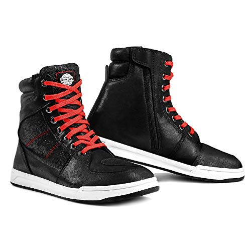 Chaussures de Moto pour Hommes Bottes de Cheville...