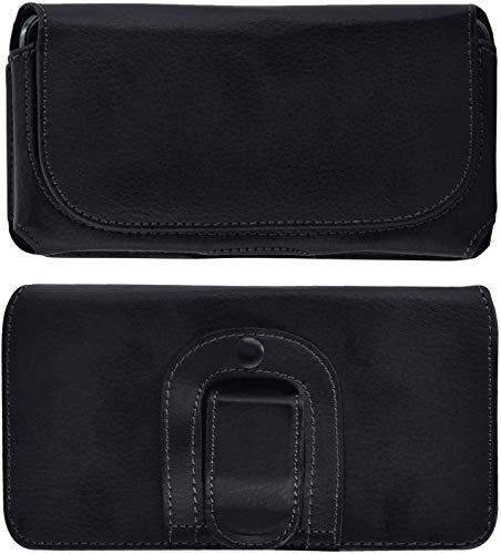 Favory-Shop Exklusive Quertasche kompatibel mit Samsung Galaxy S21 Plus Horizontal Tasche Handytasche Hülle mit Clip & Sicherheitsschlaufe*
