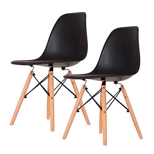 Conjunto 2 Cadeiras Eames Preta Dsw - Concept