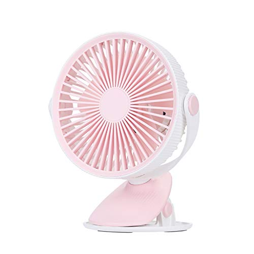 JiaMeng Ventilador de Mesa Potente y Silencioso Ventilador Turbo Lámpara de sobremesa LED Nordic Moon Clock Light Nordic Lámpara de Mesa y Lámpara LED Ajustable de Noche