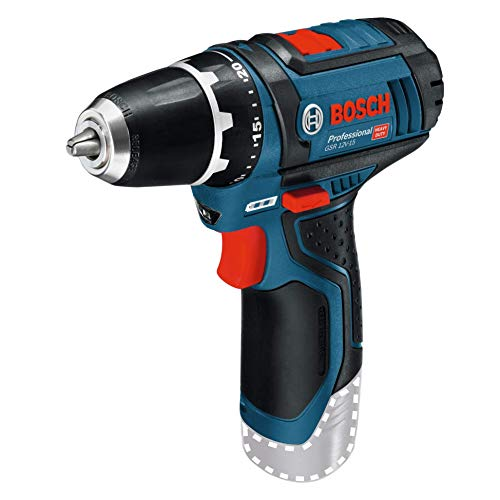 Bosch Professional Perceuse-Visseuse Sans fil GSR 12V-15 (12 V, Ø de vissage maxi. : 7mm, Couple...