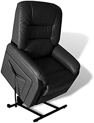 """New Black 32.3"""" x 35.8"""" x 43.7"""" Artificial Leather Stand-up Armchair SKB Family"""