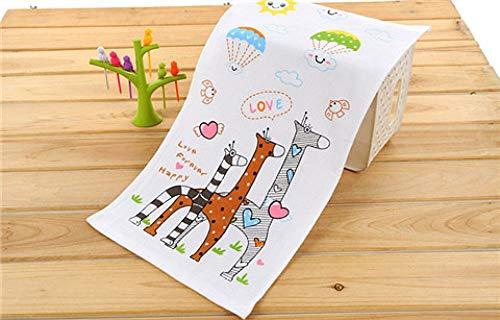 LKU 25x50cm Cartoon Gaze Baumwolle Kinderhandtuch Handtuch Großhandel Familienreinigung Baby Baby, 1,25x50cm