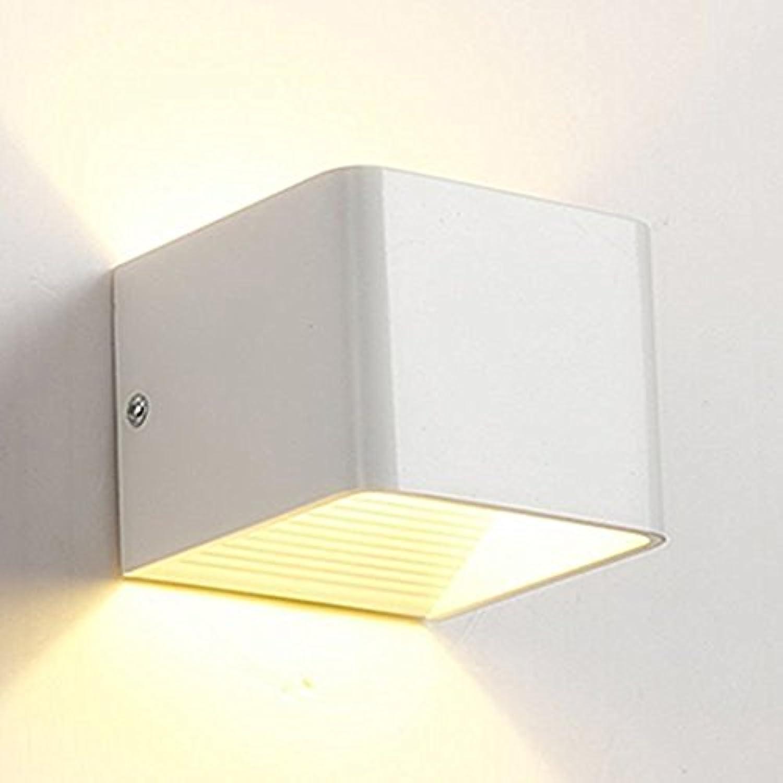 WKLCF 5W LED Wandleuchte Wandlampe mit Moderne Up und Down Design Staubdicht IP 30 LED Wandbeleuchtung 3000K Warmwei für Wohnzimmer Flur Schlafzimmer Wohnzimmer Bar Hotel [Energieklasse A++]