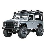 Lihgfw Camions RC de Loisirs Tout-Terrain électriques à 4 Roues à l'échelle 1/12, véhicule électrique 4 Roues motrices Tout-Terrain Radio 2,4 GHz avec Batterie Rechargeable de 1700 mAh x2 Voiture RC,