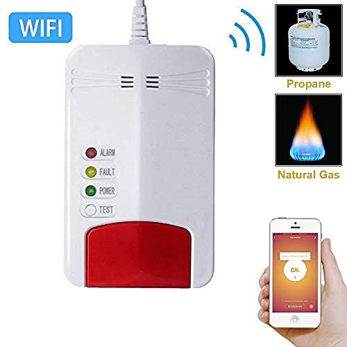 Zorvo Smart Wi-fi Propane/Natural Gas Detector for Home - Gas Leak Detector,High Sensitivity LPG LNG Coal Natural Gas Leak Detection, Alarm Monitor Sensor Home/Kitchen