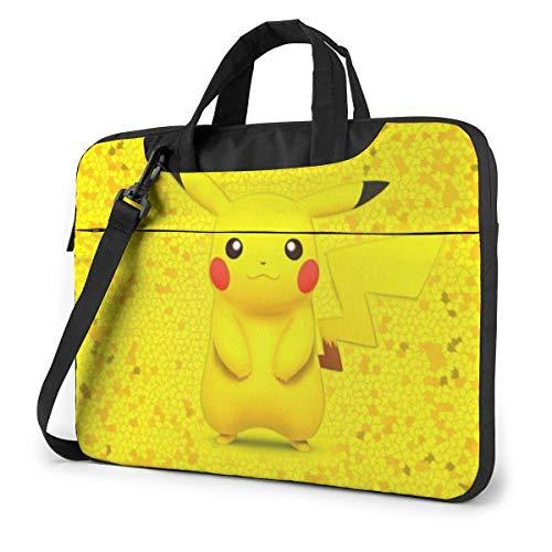 Pikachu Laptop Shoulder Bag,Shockproof Slim Computer Carry Case 13'/14'/15.6'