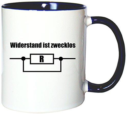 Mister Merchandise Kaffeetasse Becher Widerstand ist Zwecklos Teetasse