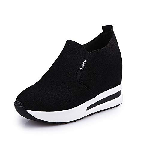 JXILY Zapatillas Zapatos de Mujer Casual Zapatillas de Trekking Montaña Antideslizantes al Aire Libre Zapatillas Gimnasio Zapatos Running Zapatos,Negro,37