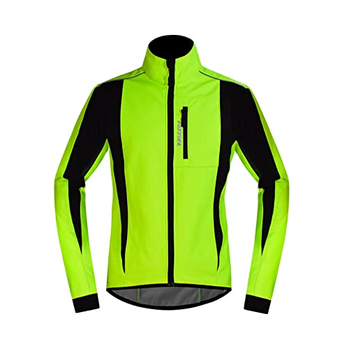 YouLpoet Camisetas Ciclismo Hombre Camisa Manga Larga Transpirable Camisa Camiseta Deportes Ropa Deportes,Verde,XXL