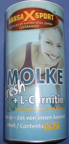 Molke fresh Diät Shake + L-Carnitin, 700g Dose, Hansa-X-Sport, Pina-Colada