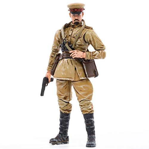 JOYTOY 1/18 Action Figures 4-Inch WWII Soviet Officer Dark Source Collection Action Figure Military Model Toys