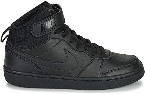 Nike Court Borough Mid 2 (GS), Zapatillas Deportivas Unisex Adulto, Black/Black/Black, 40 EU