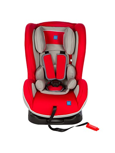 Mee Mee Baby Car Seat Cum Carry Cot with Thick Cushioned Seat (Multi Red)