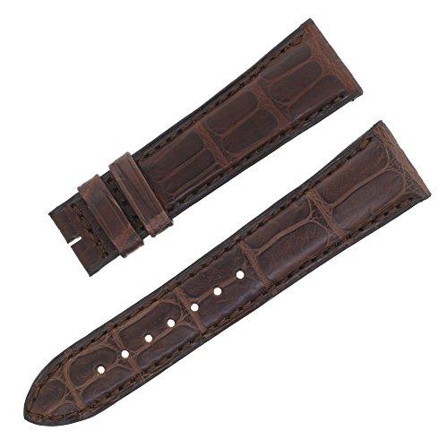 jaeger-lecoultre 19–16mm originale coccodrillo marrone in pelle da...