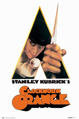 Clockwork Orange - Logo - Filmposter Kino Movie Poster Uhrwerk Orange Klassiker Oldies 61x91,5cm