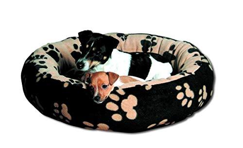 Trixie 37682 Bett Sammy, ø 70 cm, schwarz/beige