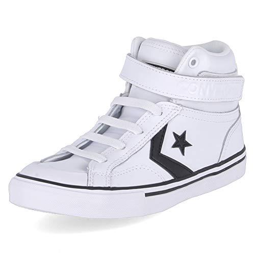 Converse Chuck Taylor All Star, Zapatillas Altas Unisex Niños, Blanco (White/Black/White 000), 28 EU