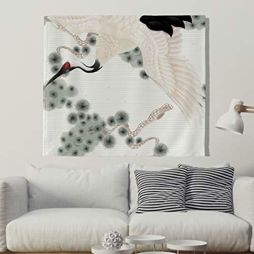 Kranich Vogel Tapestry Tapisserie Nappe de plage 100 x 150 cm