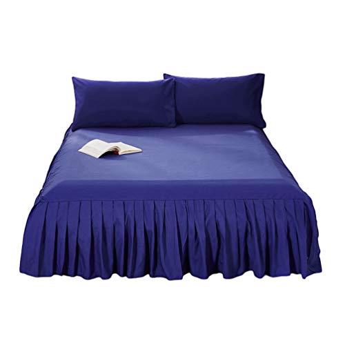 Guiran Einfarbig Bett Rock Bettdecke Einteiliges Volant Elegant Comfort Elastische Bettumrandung,Staubdicht Bettverkleidung Cq001-8 120 * 200cm