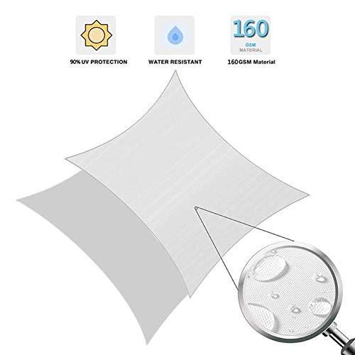 Myan Sonnensegel, UV-Schutz, rechteckig, wasserabweisend, mit gratis Seil für Outdoor-Aktivitäten und Aktivitäten, 3 Farben und 5 Größen, weiß, 4x6m