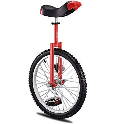 Yxxc Balance Cycling Exercise Unicycle, Leakproof Butyl Tire Wheel Cycling Unicycle Kids/Adults Trainer Skidproof Mountain Tire Unicycles for Adults