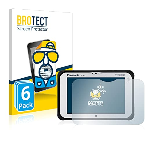 BROTECT 6X Entspiegelungs-Schutzfolie kompatibel mit Panasonic Toughpad FZ-M1 Bildschirmschutz-Folie Matt, Anti-Reflex, Anti-Fingerprint