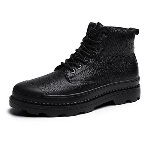 PJRYC Botas De Martin Botas para Hombre Botas Cortas Más Velvet High-Top Hombre Zapatos (Color : Black Buckle, tamaño : 43)