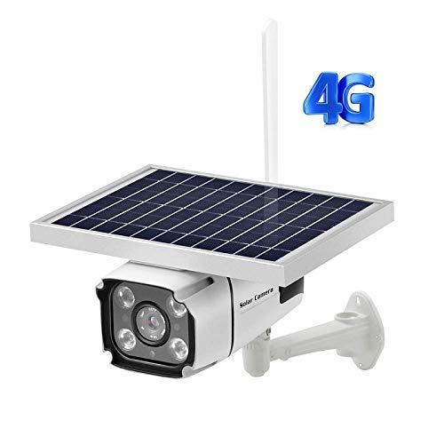 SACAM 1080P Cámara de Seguridad LTE 4G con batería Solar inalámbrica a Prueba de Agua con Audio, Sensor de Movimiento, Reflector para Exteriores, visión Nocturna, detección de...