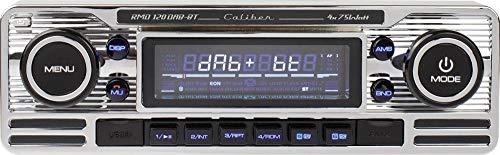 Caliber RMD120DAB-BT Radio de Coche con Dab + y Bluetooth - Aspecto Retro - Cromado