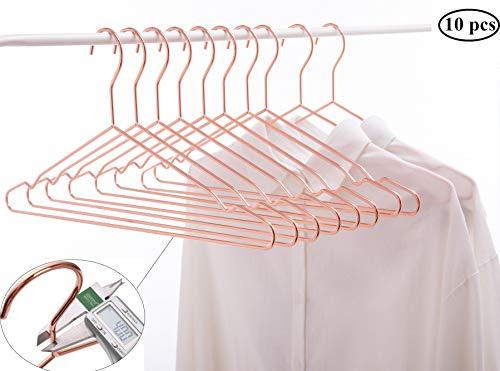 Cocomaya EU Hochleistungs-Metallbügel (Rose Gold Copper Color- Adult Coat Hanger, 10)
