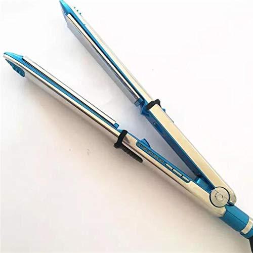 PPCERY Pro Nano Titanium Prima Optima 3000 1/4 '' Titanium 1.25'Plancha de Hierro Plano 465F 110V-240V Curling de Cabello (Color : Blue)