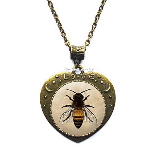 Ni36uo0qitian0ozaap Collar de abeja de miel - Collar de abeja de abejorro Collar de abeja de abeja de reina collar de abeja joyería de abejas, TAP112