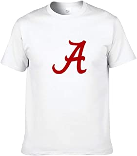Gear Crimson Alabama University Football Bama Tide Tシャツ メンズ 半袖 プリント ィーンラウンドネック半袖コットン 綿 カジュアル
