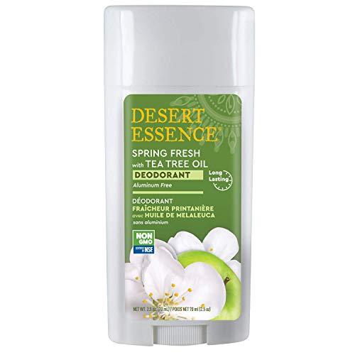 Desert Essence Spring Fresh Deodorant - 2.5 Ounce - Pack of 2 - Long Lasting Protection - Propylene Glycol & Aluminum Free - Tea Tree Oil - Aloe Vera - Witch Hazel - Neutralizes Odor - Refreshing