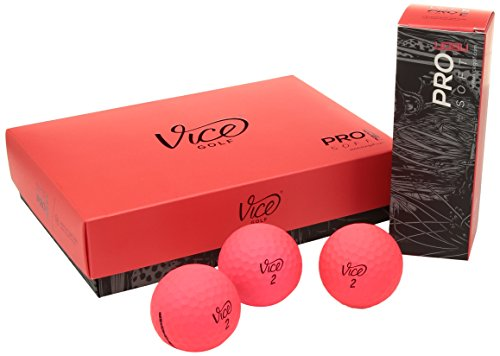 Vice Pro Soft Golf Balls, Red (One Dozen)