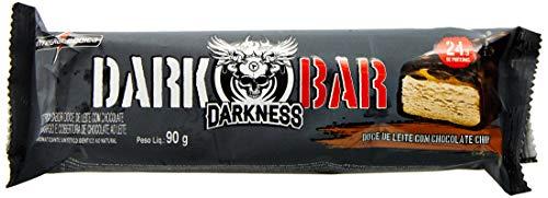 Whey Bar Darkness 8 Unidades 90g Doce de Leite com Chocolate Chip, IntegralMedica